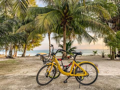 велосипеды в прокат остров Бесар малайзия