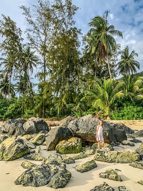 пляж малайзия остров Бесар pulau Besar